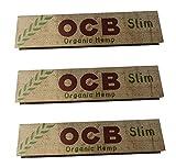 OCB Slim Organic Rolling Paper x 3 PACKS by OCB