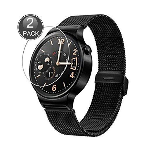 E-Hamii [2-Pack] Huawei Watch Protector de Pantalla, 0.26mm HD Anti-Scratch y Anti-huella digital Proteger la película, 9H Vidrio templado Cubierta protectora, Mejor protección (Nota: No cobertura completa)
