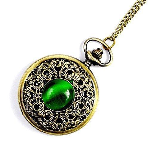 gspstyle-women-alloy-pocket-watch-quartz-watches-green-opal-pendant-necklace-colour-bronze