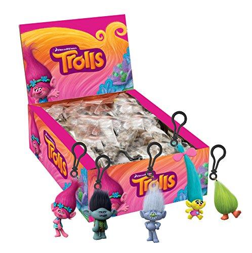 Llavero con clip de Trolls, 3D, modelos surtidos, 1unidad