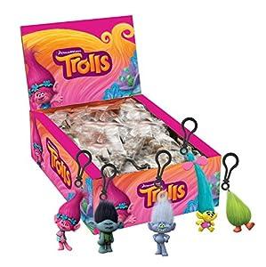 Joy Toy 67687-24-llavero con clip de Trolls, 3D, modelos surtidos, 1unidad