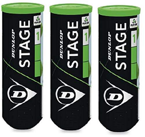 DUNLOP Stage 1 Tennisball, 9 Bälle (3 x 3)