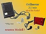 Grillmotor Kokinos 9U/min rot -schwarz