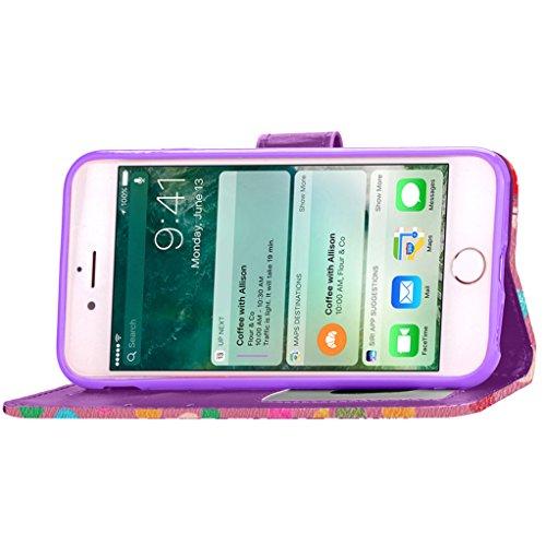 """Trumpshop Smartphone Case Coque Housse Etui de Protection pour Apple iPhone 7 Plus 5.5"""" (Brillant Point) + Rose + Ultra Mince Smarphonetcoque Portefeuille PU Cuir Avec Fonction Support Anti-Choc Anti- Rose"""