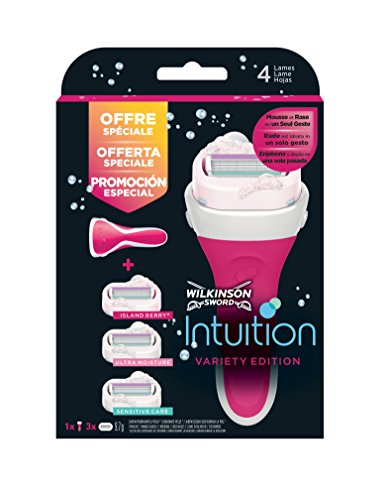 Wilkinson - Intuition - Variety Pack - Rasoir pour Femme et 3 recharges
