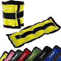 MOVIT® Twin Set di pesi da polso o di caviglia, armatura, pesi da 0,5 kg - 4,0 kg, polsini in peso da 7 diversi colori / pesi