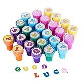 ULTNICE 26pcs enfants timbres multicolores en plastique timbres lettre jouet pour enfant (a à z)...