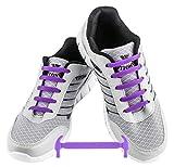 WELKOO® Elastische Schnürsenkel aus Silikon Ohne Schnürung Wasserdicht für Schuhe für Erwachsene 16 Stck. Farben lila