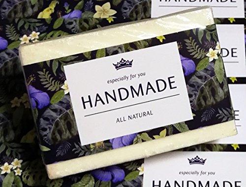 Handgefertigte Seife Bars (ZZYBIA Wrap Papier Klebeband für Homemade Seife Bar Handgefertigte Produkte 20Stück Horizontal - Morning Glory)