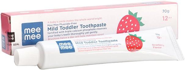 Mee Mee Fluoride-Free Toothpaste, Strawberry, 70g