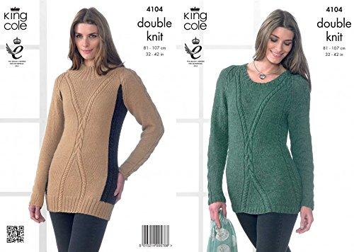 King Cole Damen Pullover & Tunika Baby Alpaka, Strickmuster 4104DK (Damen Pullover Alpaka Tunika)