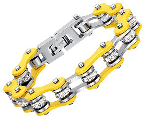 herren-armband-edelstahl-gelb-klobige-biker-chain-armreif-channel-cz-bead-1-18cm-von-aienid