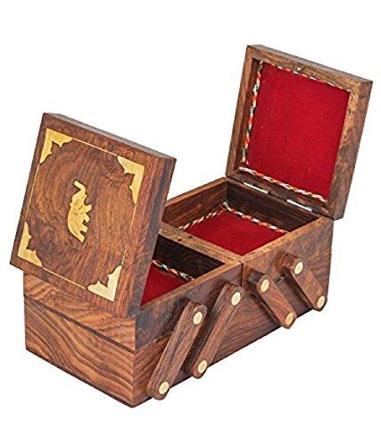 joyero-de-madera-rellena-elefante-centro-trabaja-con-2-plegado-8-X-4-caso-de-la-vendimia-caja-de-joyera-joyera-de-almacenamiento-caja-de-joyera-decorativa-Accin-de-Gracias-y-de-la-Navidad