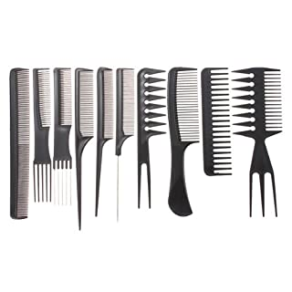 10pcs Professional Salon Hair Styling Hairdressing Hairdresser Barbers Combs Set