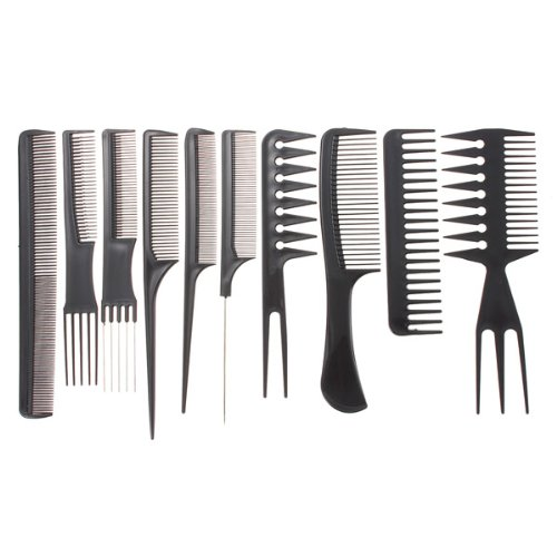 10pcs professional salon hair styling hairdressing hairdresser barbers combs set by g for u