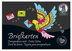 Ursus Tarjetas de 90200099se Carta Bloque de 220g/m2, DIN A6, 84Hojas Colores Surtidos en 28