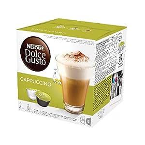 Nescafé Dolce Gusto Cappuccino Kaffeekapseln (100% Arabica Bohnen, Vollmundiger Espresso und lockerer Milchschaum, aus nachhaltigem Anbau, Blitzschnelle Zubereitung) 3er Pack (3 x 16 Kapseln)
