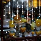 Sayla Weihnachten Dekoration Star Fensterdeko, Fensterbilder für Weihnachts und Winter Dekoration, für Türen,Schaufenster, Vitrinen, Glasfronten