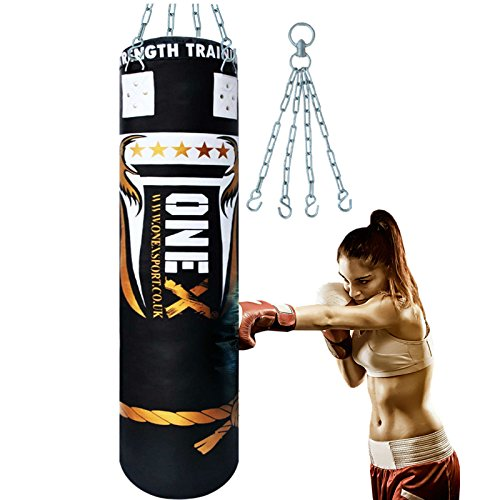 onex-5ft-heavy-boxing-punch-bag-filled-mma-punching-training-bags-kickboxing-pad-with-free-chain