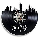 CDwxqBB New York Vinyl Record Muur Clock-Souvenir op Muur New York City Souvenir Man En Vrouw Art Decoraties
