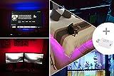 LED TV Hintergrundbeleuchtung 2m Kit Für 40-60 Zoll TV,Pangton Villa RGB 5050 led Strip mit Fernbedienung Usb TV Beleuchtung,MEHRWEG - 3