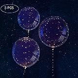 Smarcent LED Ballon leuchtet 18 Zoll transparent bunten Bobo Ballons mit 27 Zoll Sticks String Licht kreative blinkende Ballons für Geburtstag Hochzeit Haus Party Dekoration