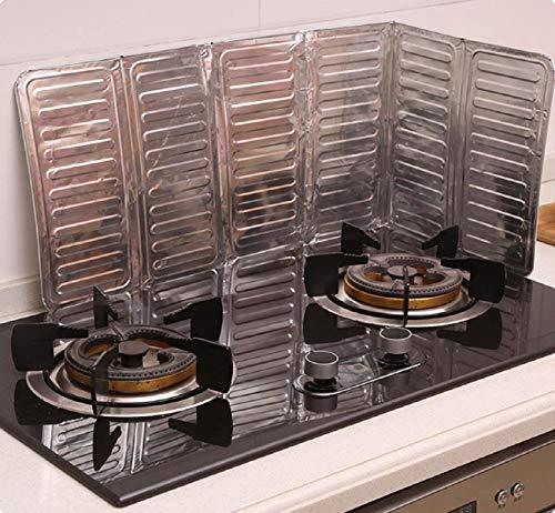 teplatte, Aluminium Isolierung Kochen KüChenzubehöR, SpüLbecken SpritzwassergeschüTzt Halteplatte Spucken ÖLwand Bord Anti-Spritzschutz KüChenwerkzeug, 2 StÜCke ()