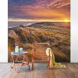Vliestapete - Sonnenaufgang am Strand auf Sylt - Fototapete Quadrat Vlies Tapete Wandtapete Wandbild Foto 3D Fototapete, Größe HxB: 192cm x 192cm