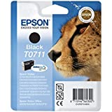 Epson T0711 Tintenpatrone Gepard, Singlepack schwarz