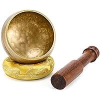 Moukey Tibetische Klangschalen 8cm Klangschalen Set mit Klöppel und Kissen für Yoga, Achtsamkeit Meditation, Entspannung, Stress & Angstreduktion, Chakra Heilung