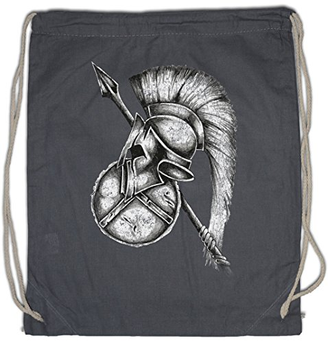 Urban Backwoods Spartan Gear Turnbeutel Sporttasche Sparta Spartans Spartaner Spartiaten Schild Speer Helm Shield Spear Helmet Leonidas 300