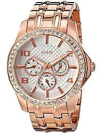 Guess U0147L3 - Reloj para mujeres, correa de acero inoxidable color oro rosa