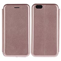 iPhone 6 Plus / 6S Plus Case, COOSTOREEU Premium PU Leather Folio Flip Wallet Cover with Card Slots Hidden Embedded Magnetic Closure Secure Lock Feature Soft TPU Bumper Shell Ultra Slim Thin Lightweight Case for Apple iPhone 6 Plus / 6S Plus 5.5 Inch, Ros