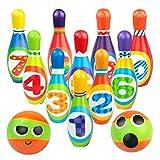 Jeux Exterieur Enfant - Jeu Quilles 10 Bowling Équipement Sportif Quilles Enfant 2 Boules Quille Bowling Jeux de Jardin Fête de Jardin Matériau Eponge Stable