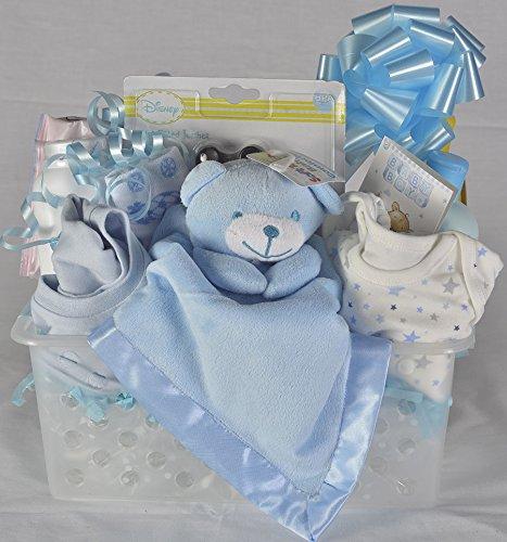 Panier Cadeau pour un Bébé Garçon Nouveau-Né