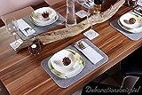 Luxflair Edle Filz Platzmatten für 4 Personen in dunkelgrau (+weitere Farben). XXL Tischset ca. 30x45cm groß, waschbar. Moderne Designer Filz Tischmatten - 5