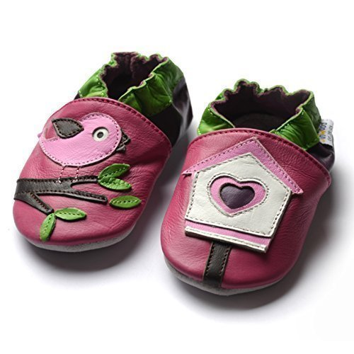 Designed Sole Vogelhaus Jinwood Soft Bird Hausschuhe Amsomo Pink Krabbelschuhe Lederpuschen By House S0wdq80r