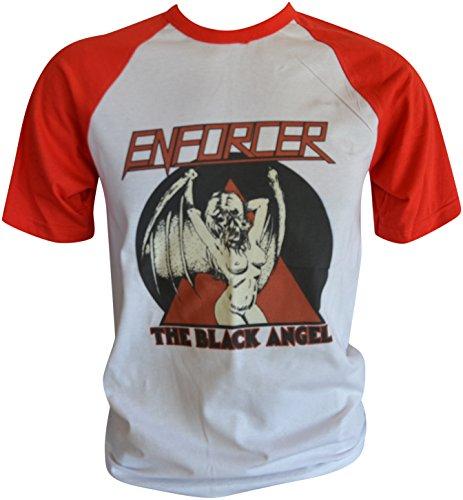 Enforcer The Black Angel Baseball T-Shirt L (ga79) (Angels Baseball-shirt)