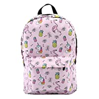 DAIFUQIANG Backpack For Girls Water Resistant Flamingo Diamond Pattern Backpacks Teenage School Bag