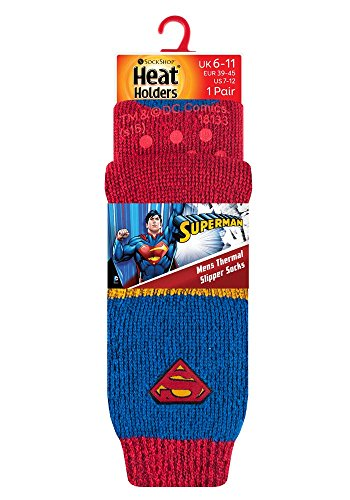Mens-Thermal-Heat-Holder-Slipper-Socks-23-Tog-4-Colours-6-11-uk-39-45-eur-Superman