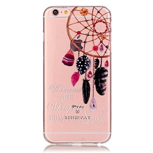 iPhone 6s Hülle,iPhone 6 TPU Hülle,Fodlon® Ultra dünn Tropfenschutz / Shock-Absorption mit Anti-Scratch Silikon-TPU-Fall-Abdeckung für iPhone 6 6s-Pflaumeblume Traumfänger