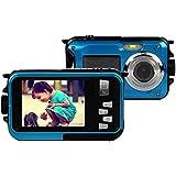 Stoga CGT002 Digitalkamera, 2,7-Zoll/6,9-cm-LCD-Display, 16 MP, wasserdicht, Zoom, Videorecorder, 8-facher Zoom, Blau