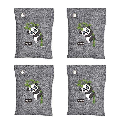 Bolsas de purificación de aire, con carbón de bambú aromático. Ideales para coche, armario, cuarto de baño, etc., 4 x 200g
