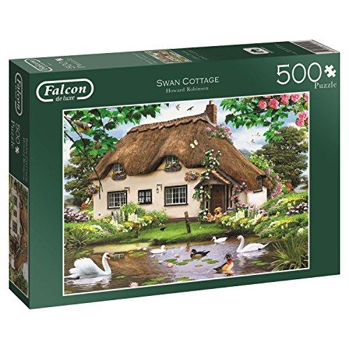 Jumbo - Swan cottage, puzzle de 500 piezas (611014)
