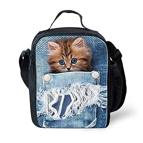 chaqlin Lovely Kühltasche Lunchtasche Kinder Schule Picknick Lunchbox cat-4