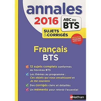 Annales ABC du BTS 2016 Français