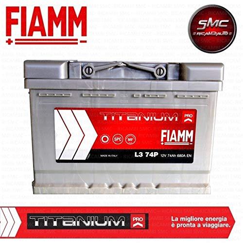 Fiamm, batteria per auto Titanium L374, 74 Ah, 680 A, polo positivo a dest