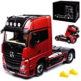 alles-meine GmbH Mercedes-Benz Actros 2 GigaSpace 4x2 FH25 Rot 1/18 NZG Modell Auto Modell Auto