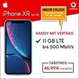 Apple iPhone XR (blau) 64GB Speicher Handy mit Vertrag (Vodafone Smart XL) 11GB Datenvolumen 24 Monate Mindestlaufzeit [Exklusiv bei Amazon]