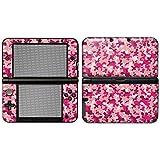 """Nintendo 3DS XL Designfolie """"Pink Camouflage"""" Skin Aufkleber für 3DS XL (2012)"""